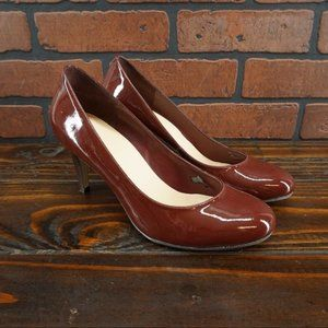 COLE HAAN Red Patent Leather Pumps Size 9